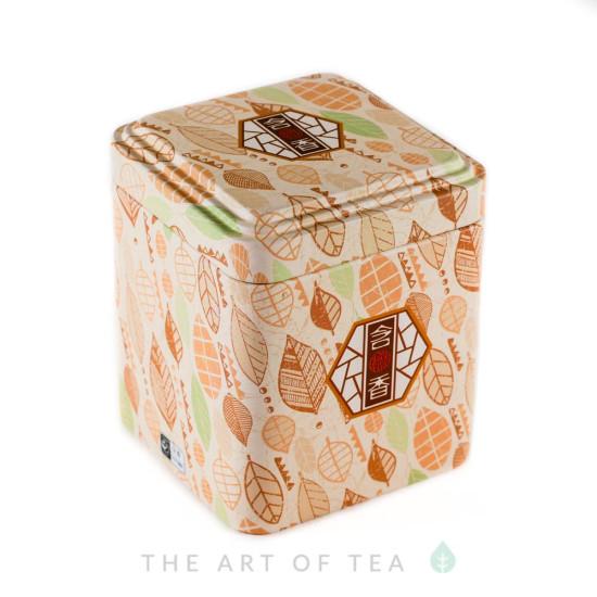 Баночка для чая Листья, 7*7*8,5 см