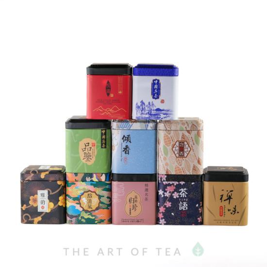 Баночка для чая Алая, 7*7*8,5 см