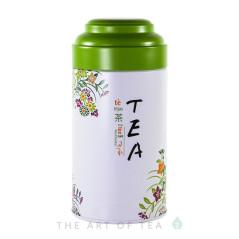 """Баночка для чая """"Чай"""", зеленая, 9*18 см"""