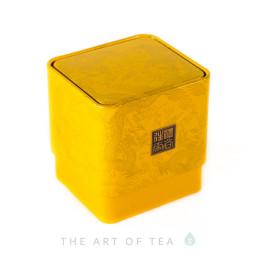 Баночка для чая Дракон, желтая, 6*6,5*7 см