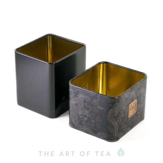 Баночка для чая Дракон, черная, 6*6,5*7 см