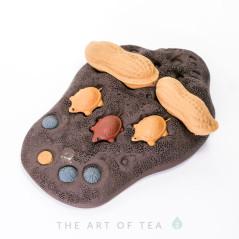 Чайная фигурка Три черепашки, глина
