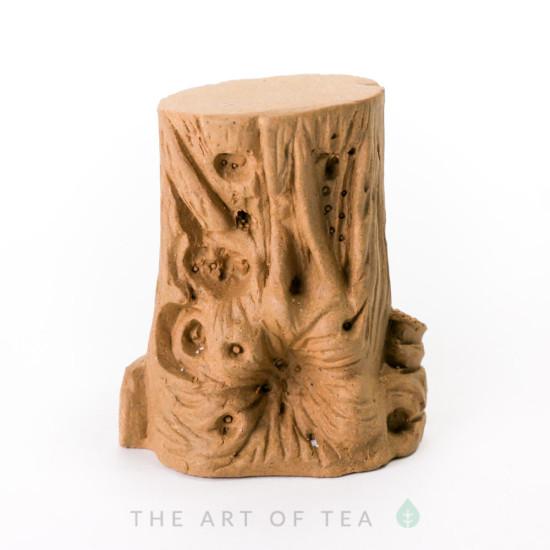 Чайная фигурка-подставка Пенек, глина