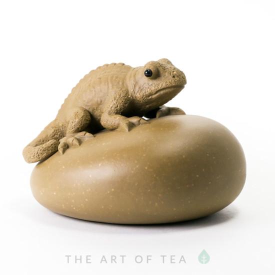 Чайная фигурка Хамелеон, глина
