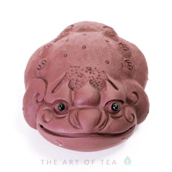 Чайная фигурка Жаба на монетке, глина