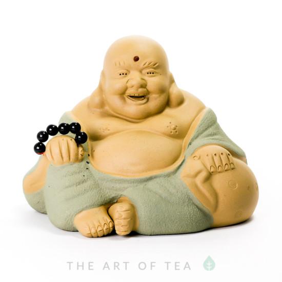 Чайная фигурка Хотей с четками, глина