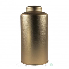 Банка для чая золотая, 8,5*17 см