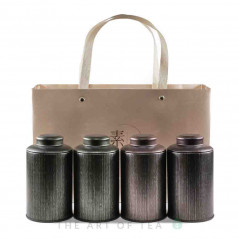 Подарочная упаковка, 4 банки и сумка