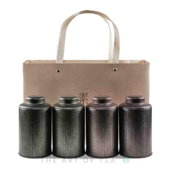 Банка для чая темно-зеленая, 7,5*13 см