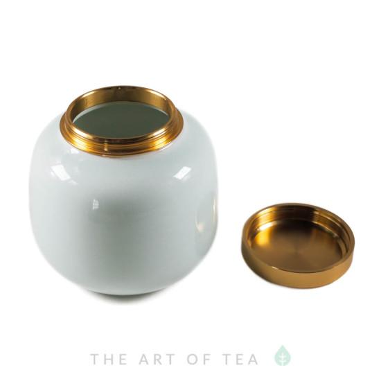 Чайница фарфор, голубая, 200 мл