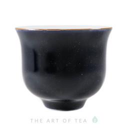 Пиала Темно-синяя 386, фарфор, 60 мл
