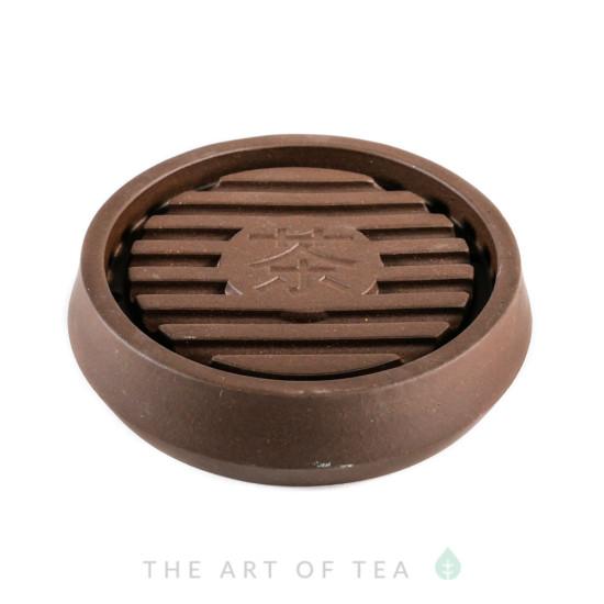 Подставка под чайник Чай, коричневая, глина