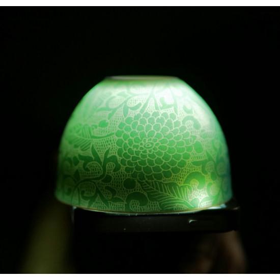"""Пиала Цзиндэчжэнь """"Ба Хуа"""", зеленая, 85 мл"""
