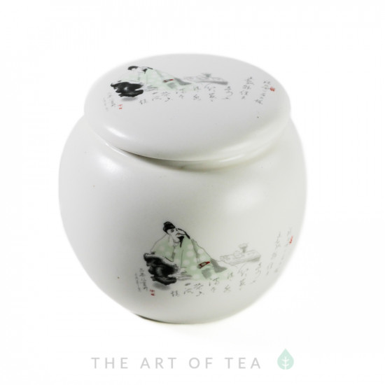 Чайница Мудрец, фарфор, 7*7 см