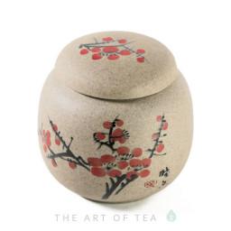 Чайница Сакура, глина, 8,5*8 см
