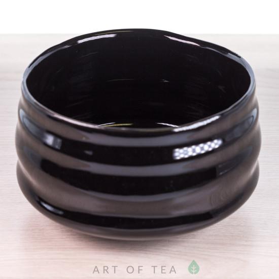 Тяван, чаша для матча, чёрный глянцевый