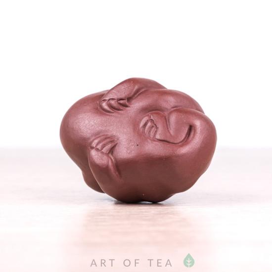 Фигурка Жаба мини #2, исинская глина, 4 см