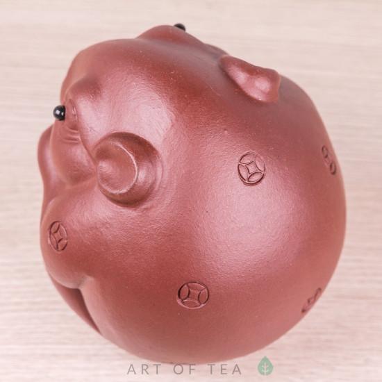 Фигурка Упитанная мышь с орехом, исинская глина, 6 см
