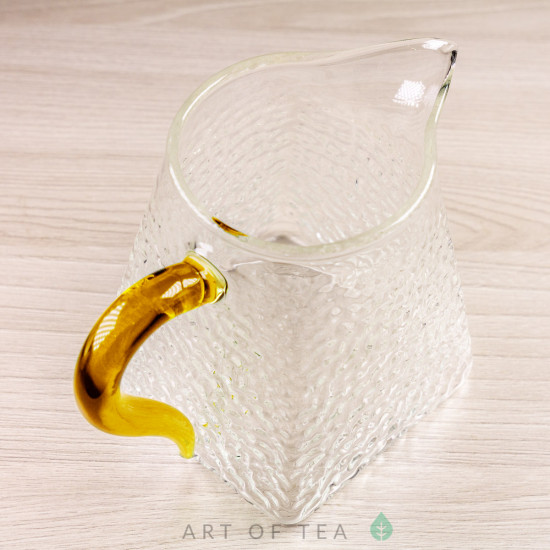 Чахай Трапеция с жёлтой ручкой, отбивное стекло, 325 мл