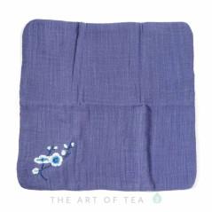 Чайное полотенце Камелия, синее, 28*28 см