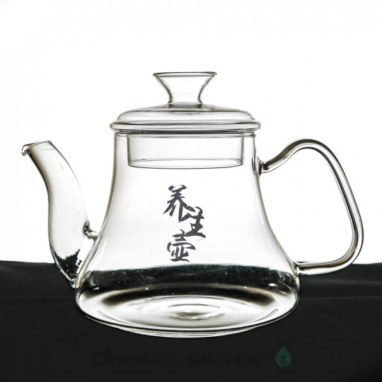 """Чайник для воды """"Иероглифы"""", огнеупорное стекло, 1200 мл"""