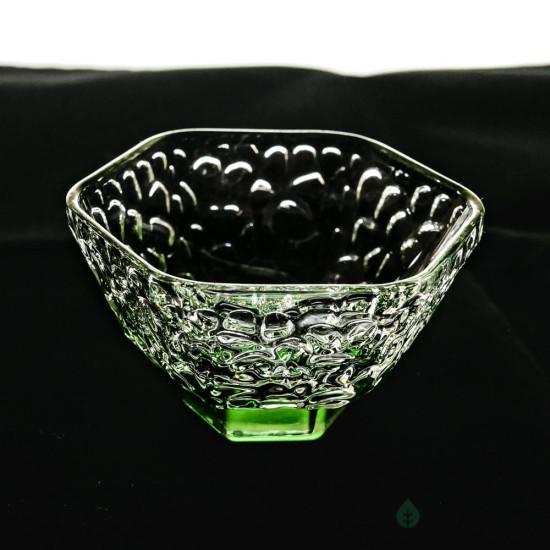Пиала, отбивное стекло, зеленая, 60 мл