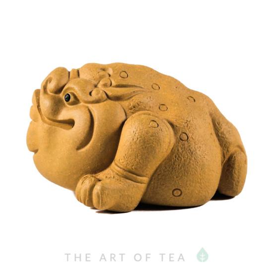 Фигурка Жаба желтая 203, глина, 7,5 см