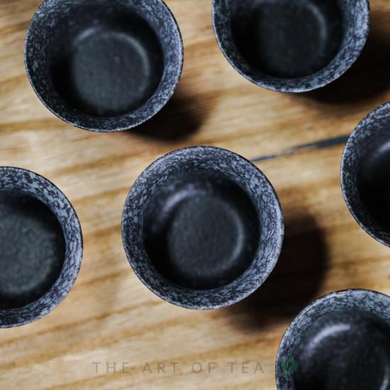 Набор посуды в тайваньском стиле s61, черный, 10 предметов