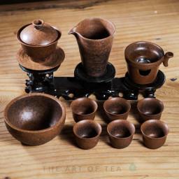 Набор посуды в тайваньском стиле s62, коричневый, 10 предметов