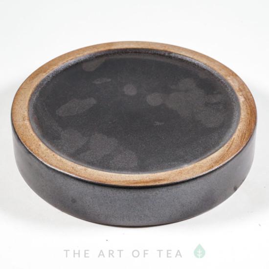 Чайный пруд черный, керамика, 16 см