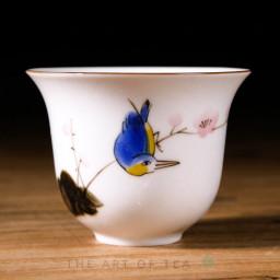 Пиала Синяя птица 428, ручная роспись, 70 мл