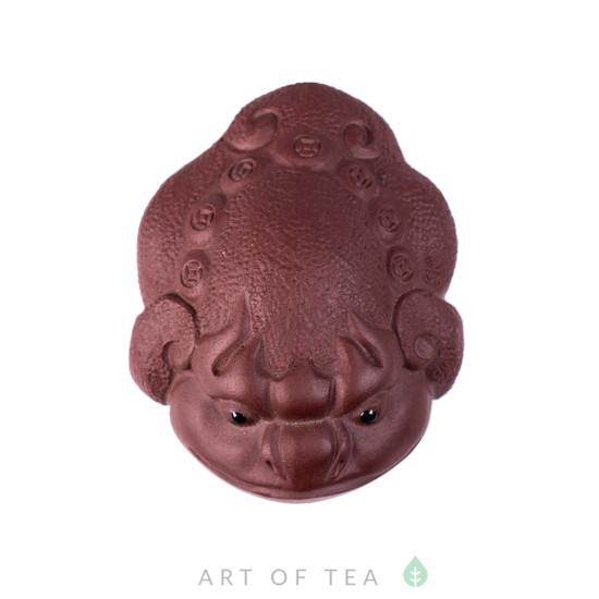 Фигурка Жаба на монетке 173, глина, 6,5 см