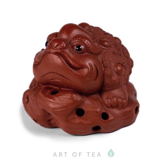 Фигурка Жаба на камне 250, глина