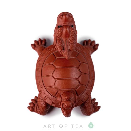 Фигурка Черепаха-Дракон, красный, глина