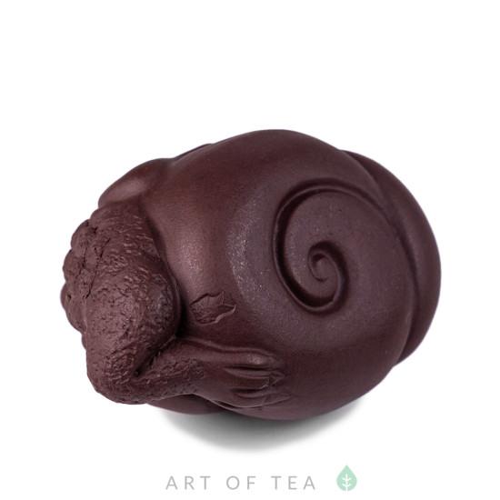 Фигурка Жаба на ракушке 212, глина, коричневая, 7,5 см