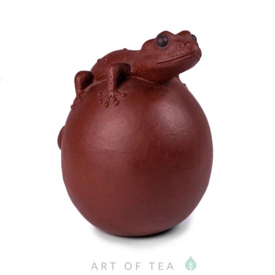 Фигурка Ящерица на яйце, глина
