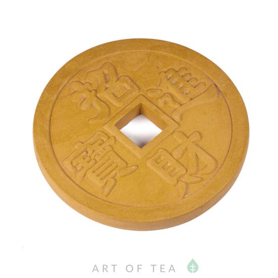 Подставка под чайник Монета, глина