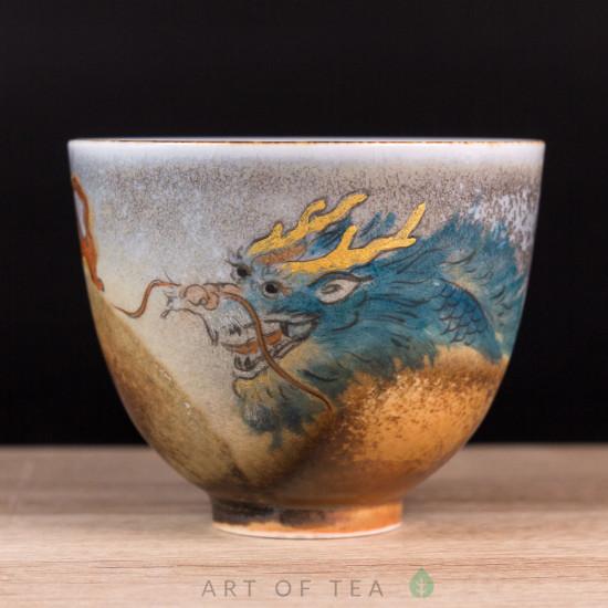 Пиала Синий Дракон, Цзиндэчжэнь 582, ручная роспись, 115 мл
