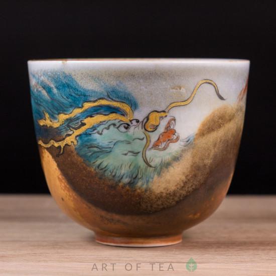 Пиала Зелёный Дракон, Цзиндэчжэнь 582, ручная роспись, 115 мл