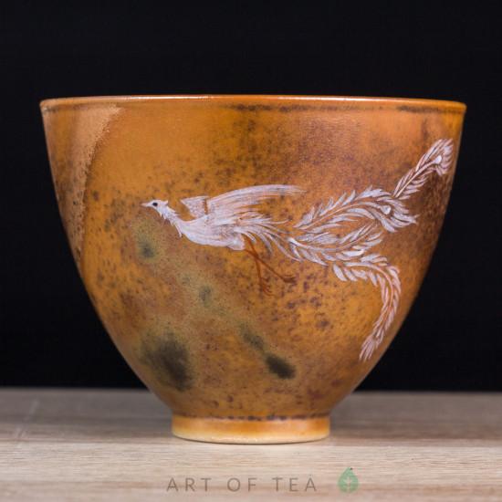 Пиала Золотой Феникс, Цзиндэчжэнь 593, ручная роспись, 80 мл