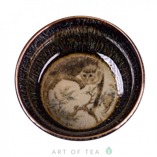 Пиала Обезьяна 492, глина, глазурь