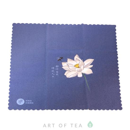 Чайное полотенце Лотос и пчела, 25*25 см