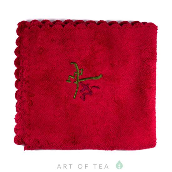 Чайное полотенце Чай, красное, 30*30 см