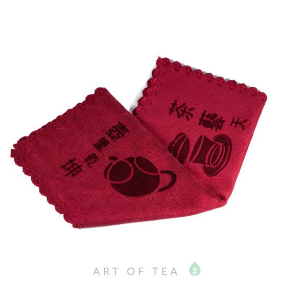 Чайное полотенце Гайвань, красное, 30*40 см