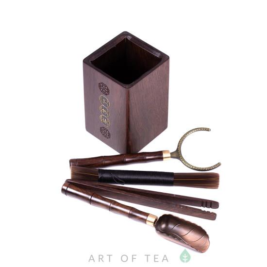 Инструменты для чайной церемонии #30, тёмное дерево