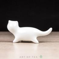Фигурка Белый котик, фарфор, 7 см