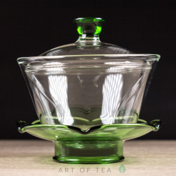 Гайвань Хрустальный цветок, зелёная, стекло, 200 мл