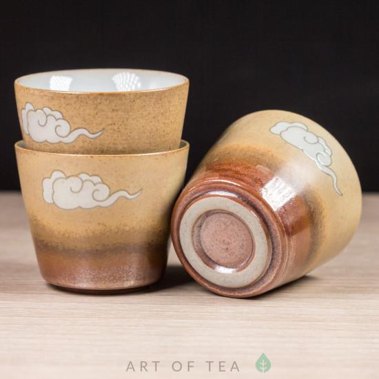 Набор походный Журавль в облаках, керамика, 6 предметов