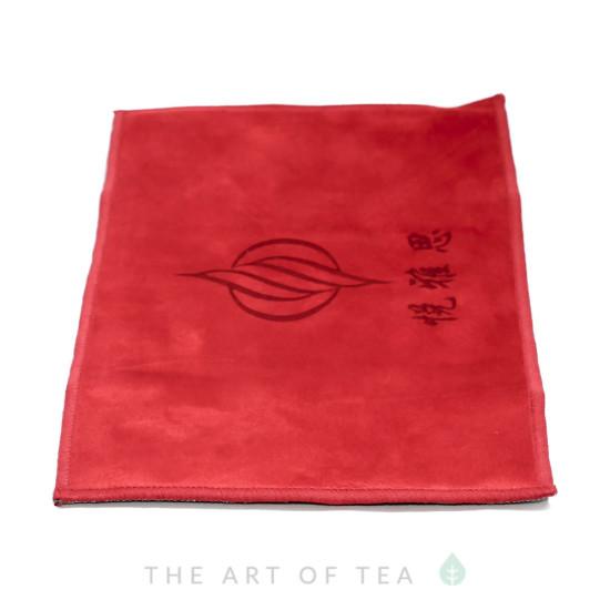 """Чайное полотенце """"Единорог"""", красное,  18*28 см"""