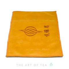 """Чайное полотенце """"Единорог"""", оранжевое,  18*28 см"""